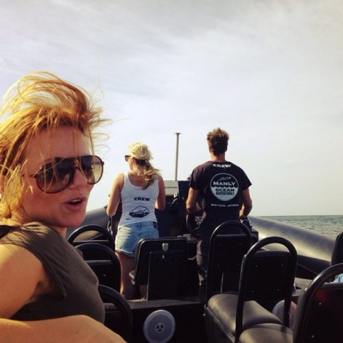 Geri Halliwell Will Smith onboard Ocean Extreme
