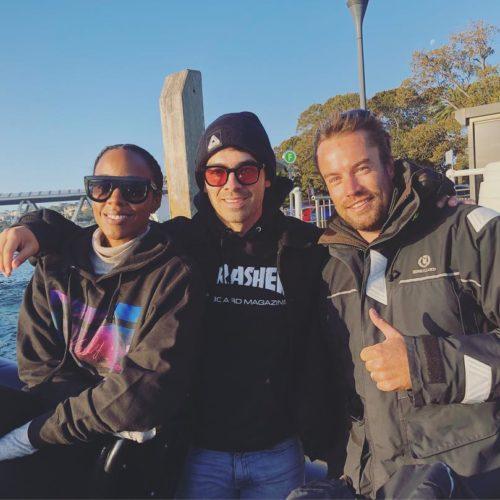 Kelly Rowland and Joe Jonas onboard Ocean Extreme