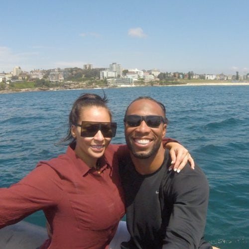 Larry Fitzgerald onboard Ocean Extreme