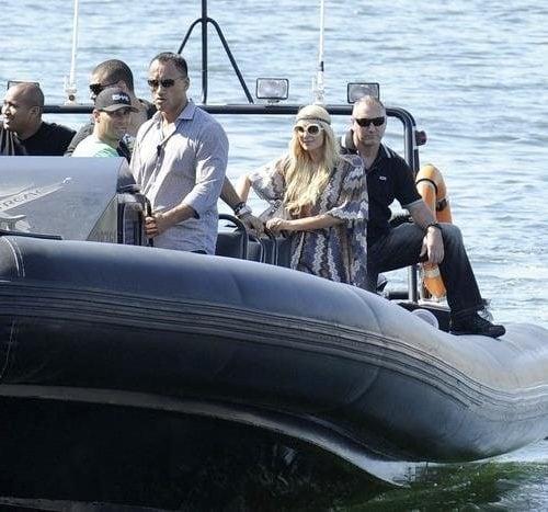 Paris Hilton onboard Ocean Extreme