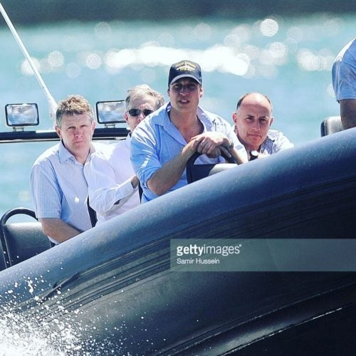Prince William onboard Ocean Extreme
